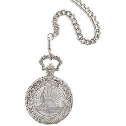 American Coin Treasures Statue Of Liberty Commemorative Coin Pocket Watch