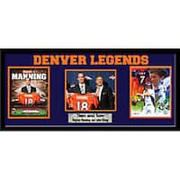 Denver Broncos Peyton Manning and John Elway Cutout Frame