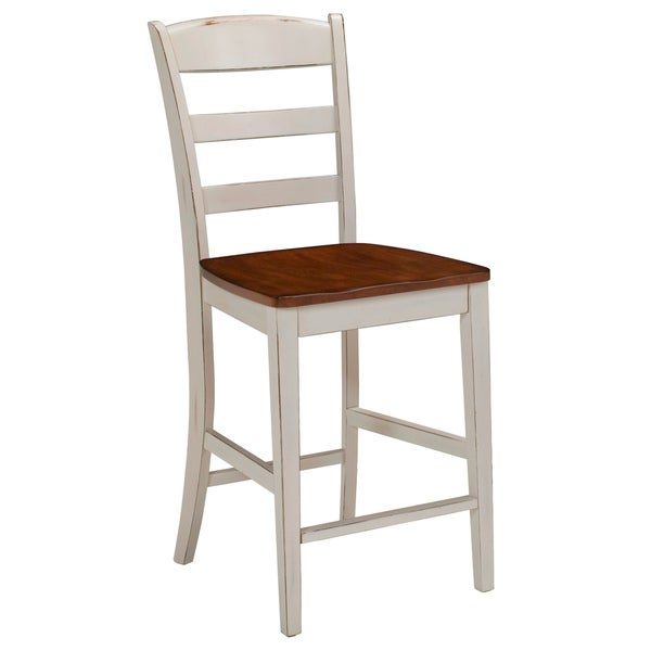 Monarch Antiqued White Bar Stool by Home Styles