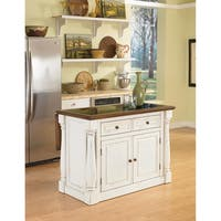 Monarch Antiqued White Kitchen Island with Granite Top by Home Styles