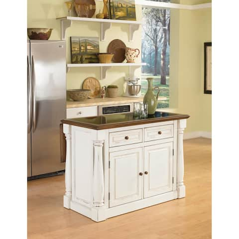 Monarch Antiqued White Kitchen Island by Home Styles