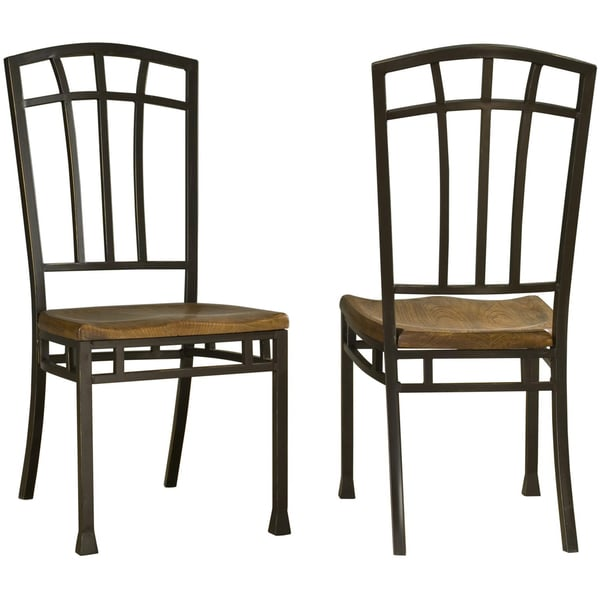 Home Styles Oak Hill Distressed Oak Dining Chairs (Set of 2)