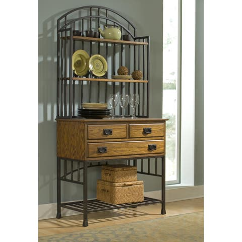 Copper Grove Buckhill Distressed Oak Bakers Rack