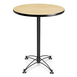OFM 30-inch Round Café Table with Black Base (4 options available)