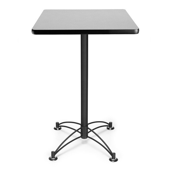OFM 24-inch Square Café Table with Black Base