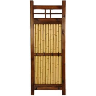 Handmade Japanese Bamboo 4x1.5-foot Kumo Fence (China)