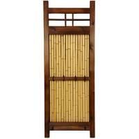 Handmade Japanese Bamboo 4x1.5-foot Kumo Fence (China)