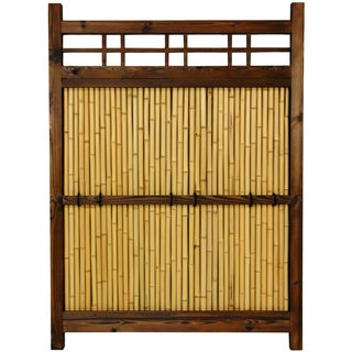 Handmade Japanese Bamboo 4x3-foot Kumo Fence (China)