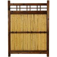 Handmade Japanese Bamboo 4x3-foot Kumo Fence (China)