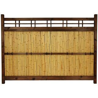 Handmade Japanese Bamboo 4x5.5' Kumo Fence