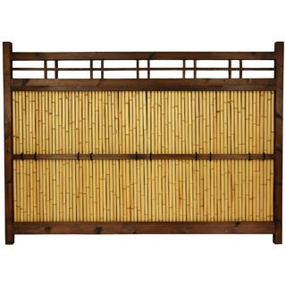 Handmade Japanese Bamboo 4x5.5-foot Kumo Fence (China)