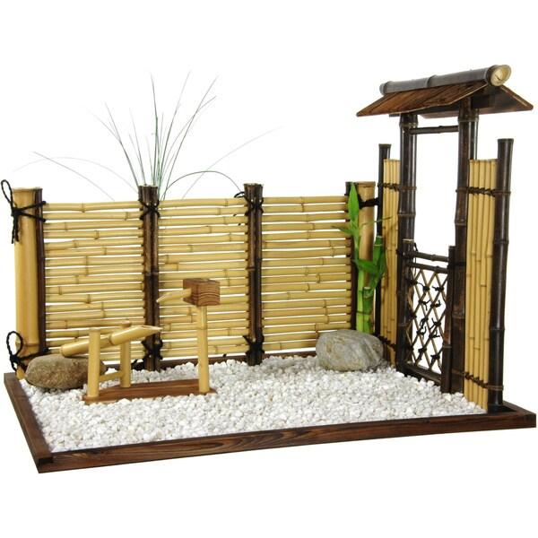 Handmade Zen Bamboo Mini Garden