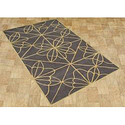Alliyah Handmade Teak New Zealand Blend Wool Rug (8' x 10')