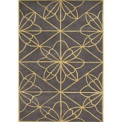 Alliyah Handmade Teak New Zealand Blend Wool Rug (8' x 10')