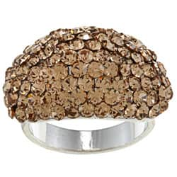 City by City High-polish Silvertone Brass Pave-Set Brown Crystal Fashion Ring|https://ak1.ostkcdn.com/images/products/6655443/High-polish-Silvertone-Brass-Pave-set-Brown-Crystal-Fashion-Ring-P14216197.jpg?impolicy=medium