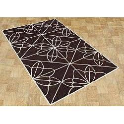 Alliyah Handmade Chocolate Brown New Zealand Blend Wool Rug (8' x 10') - Thumbnail 1