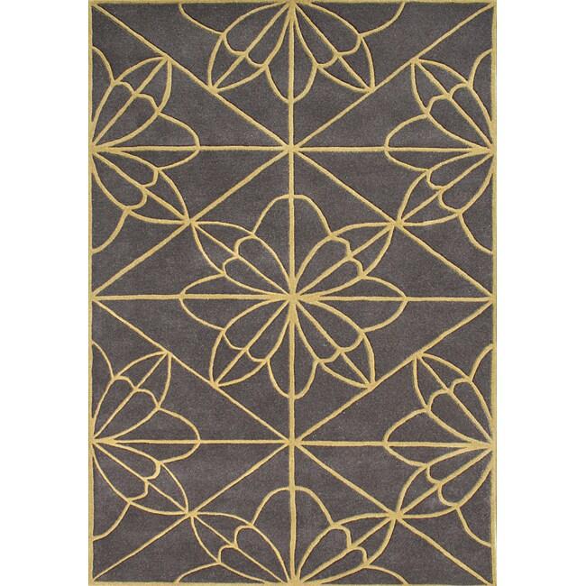 Alliyah Handmade Teak New Zealand Blend Wool Rug (5' x 8')