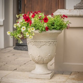 Link to Antique Moroccan 20-inch Urn Planter by Christopher Knight Home Similar Items in Planters, Hangers & Stands