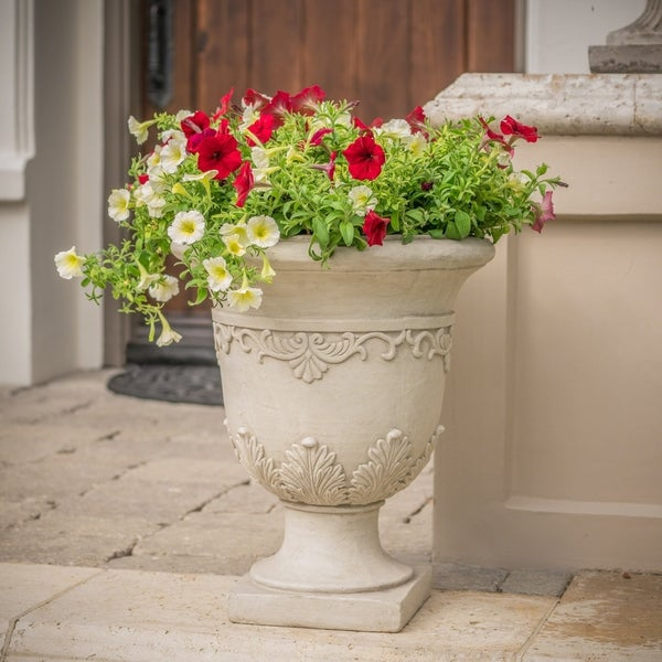 Antique Moroccan 20-inch Urn Planter by Christopher Knight Home. Opens flyout.