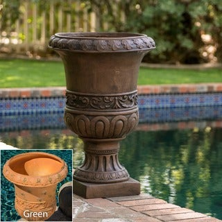 Brown Turkish 26-inch Urn Planter by Christopher Knight Home