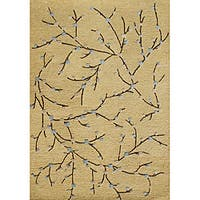Alliyah Handmade Corn Silk New Zealand Blend Wool and Viscose Silk Rug (5' x 8') - 5' x 8'