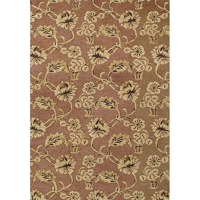 Alliyah Handmade Chocolate Brown New Zealand Blend Wool Rug (8' x 10')