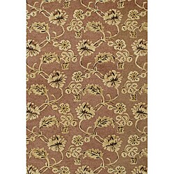 Alliyah Handmade Chocolate Brown New Zealand Blend Wool Rug (8' x 10') - Thumbnail 0