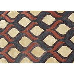 Alliyah Handmade Sunset Gold New Zealand Blend Wool Rug (5' x 8') - Thumbnail 2