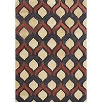 Alliyah Handmade Sunset Gold New Zealand Blend Wool Rug (5' x 8')