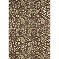 Alliyah Handmade Tobacco Brown New Zealand Blend Wool Rug (5' x 8')