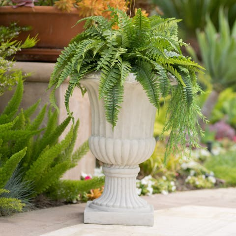 Antique White 26-inch Italian Urn Planter by Christopher Knight Home