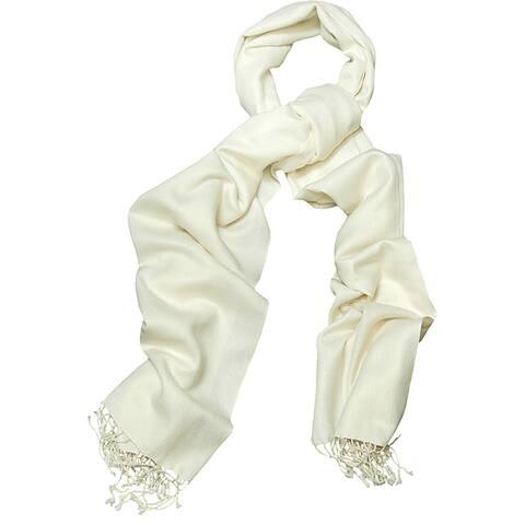 Peach Couture Silk Blend Off-white Wrap