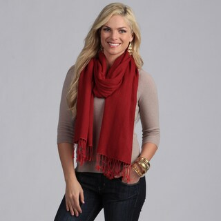 Peach Couture Silk Blend Red Wrap