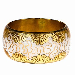 Handmade Saachi Foil Flower Bangle (India)