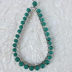 Handcrafted Faux Turquoise 'Dewdrops' Dangle Earrings (India)