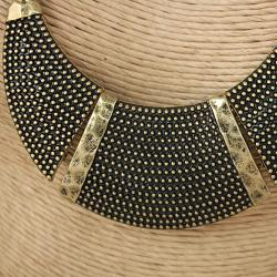 Handcrafted 'Crescent Glow' Necklace (India)