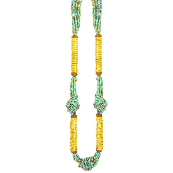 Handcrafted Turquoise 'Pacific Hues' Necklace (India)
