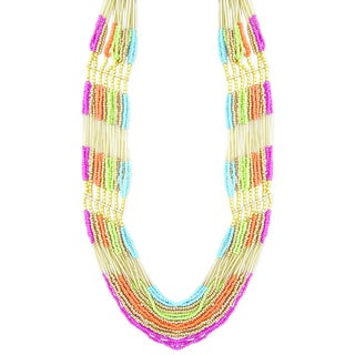 Handmade Multi-strand 'Colorful Harmony' Necklace (India)
