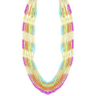 Handmade Multi-strand 'Colorful Harmony' Necklace (India)
