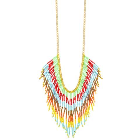 Handmade Multi-strand 'Colorful Cascades' Necklace (India)