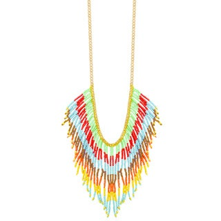 Handmade Multi-strand 'Colorful Cascades' Necklace (India)