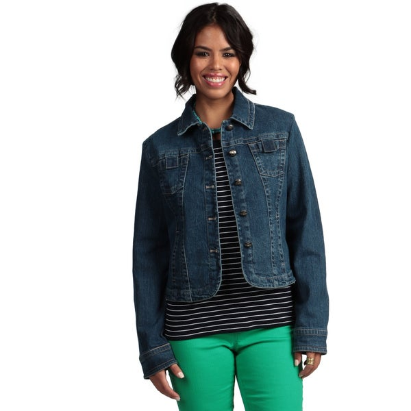 Live A Little Women's Top-stitch Denim Jacket