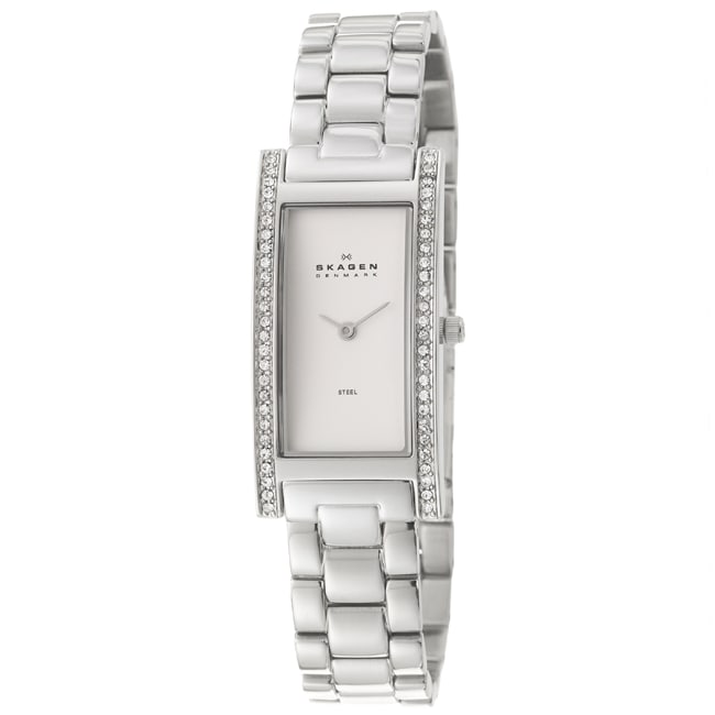Skagen Women's 'Glitz' Stainless Steel  Crystals Watch