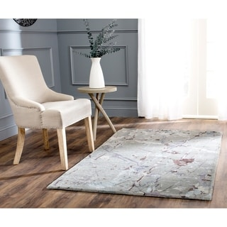 Safavieh Handmade Soho Modern Abstract Grey Wool Rug (3' 6 x 5' 6)