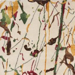 Safavieh Handmade Soho Modern Abstract Ivory Wool Area Rug (7' 6 x 9' 6) - Thumbnail 1