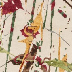 Safavieh Handmade Soho Modern Abstract Ivory Wool Area Rug (7' 6 x 9' 6) - Thumbnail 2