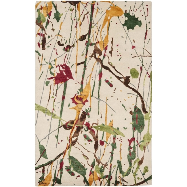 Safavieh Handmade Soho Modern Abstract Ivory Wool Rug (8' 3 x 11')