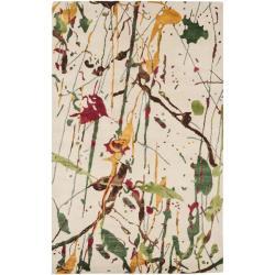Safavieh Handmade Soho Modern Abstract Ivory Wool Rug - 8'3 x 11' - Thumbnail 0