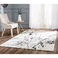 Safavieh Handmade Deco Art Ivory New Zealand Wool Rug - 7'6 x 9'6