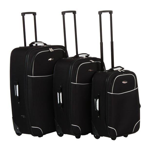 Benzi Black 3-piece Luggage Set